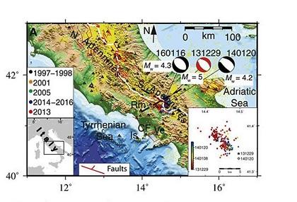 Terremoti, tra le cause una sorgente di magma sotto l'Appennino