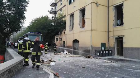 Velletri: esplosione con crollo palazzina, tre feriti