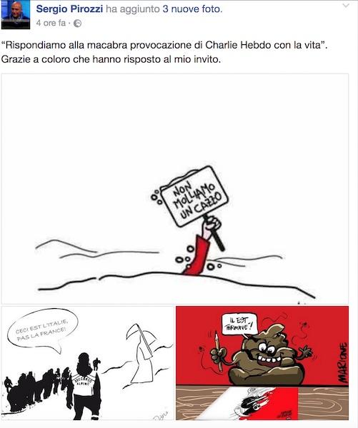 Hotel Rigopiano, vignetta choc di Charlie Hebdo: la morte sugli sci