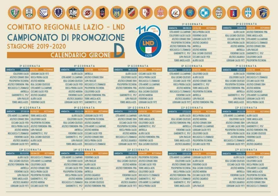 Calendario Promozione Girone A.Lupa Frascati Ecco Il Calendario Nel Campionato Di