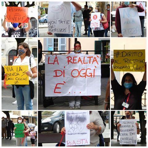 """Basta puzza"""": il flash mob dei cittadini di Colonna, Monte ..."""
