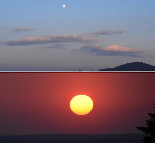 sole luna ilmamilio