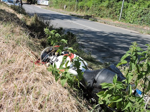 incidente moto1 genzano ilmamolio