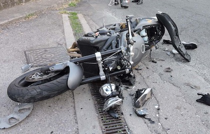 moto incidente genzano ilmamilio
