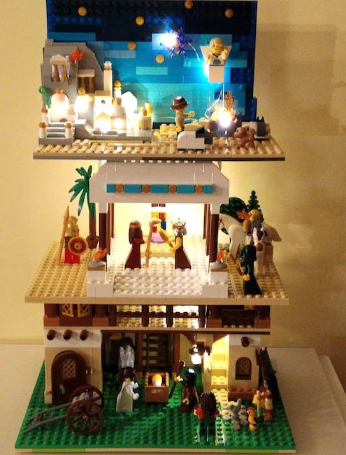 A Grottaferrata un presepe interamente di Lego. Su tre piani
