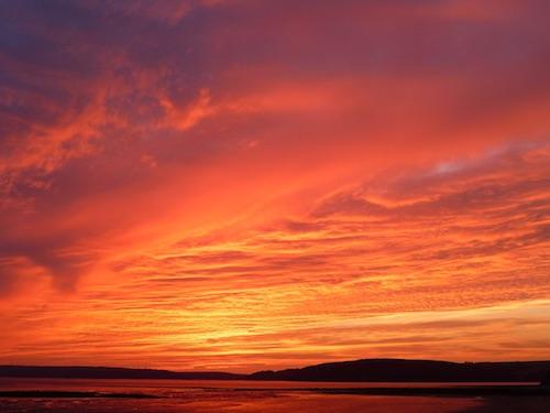 tramonto caldo ilmamilio