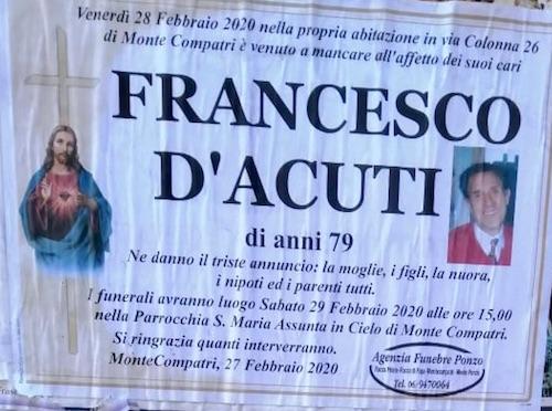 francescoDacuti necrologio ilmamilio