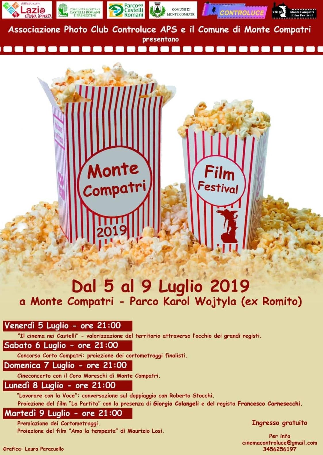 Risultati immagini per Monte Compatri  film festival 2019