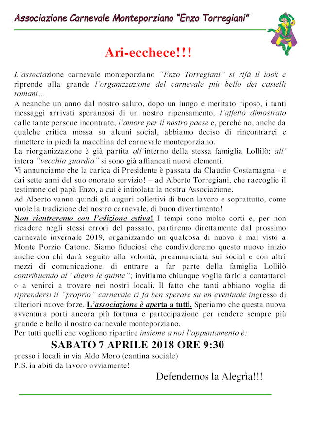 Carta Intestata Carnevale Copia
