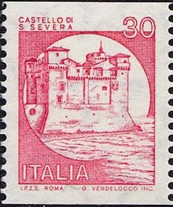 castelloSantaSevera francobollo ilmamilio